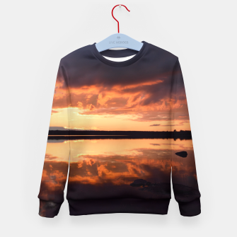 Thumbnail image of Sunset reflections Kid's sweater, Live Heroes