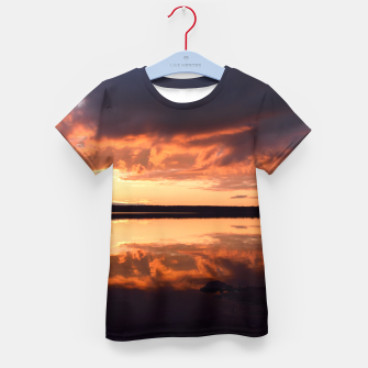 Thumbnail image of Sunset reflections Kid's t-shirt, Live Heroes