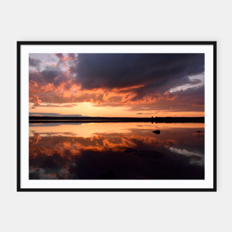 Thumbnail image of Sunset reflections Framed poster, Live Heroes