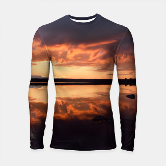 Thumbnail image of Sunset reflections Longsleeve rashguard , Live Heroes