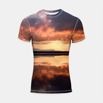 Thumbnail image of Sunset reflections Shortsleeve rashguard, Live Heroes