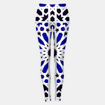 Miniature de image de Epic Original Blue Moroccan Geometric Artwork. Leggings, Live Heroes