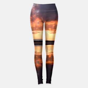Thumbnail image of Sunset reflections Leggings, Live Heroes