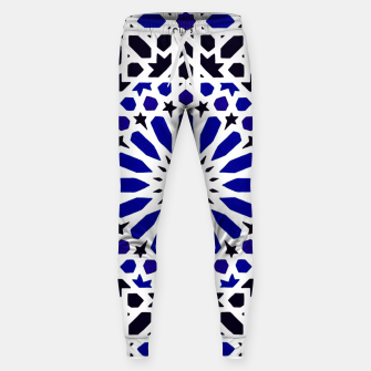 Thumbnail image of Epic Original Blue Moroccan Geometric Artwork. Sweatpants, Live Heroes