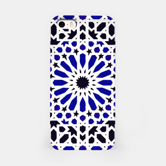 Thumbnail image of Epic Original Blue Moroccan Geometric Artwork. iPhone Case, Live Heroes
