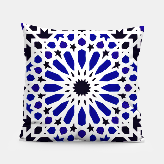 Thumbnail image of Epic Original Blue Moroccan Geometric Artwork. Pillow, Live Heroes