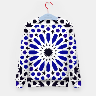 Miniatur Epic Original Blue Moroccan Geometric Artwork. Kid's sweater, Live Heroes