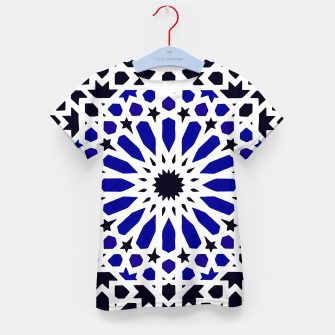 Thumbnail image of Epic Original Blue Moroccan Geometric Artwork. Kid's t-shirt, Live Heroes