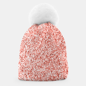 Thumbnail image of Living coral light glitter Sparkles Beanie, Live Heroes