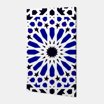 Miniatur Epic Original Blue Moroccan Geometric Artwork. Canvas, Live Heroes