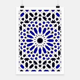 Thumbnail image of Epic Original Blue Moroccan Geometric Artwork. Poster, Live Heroes