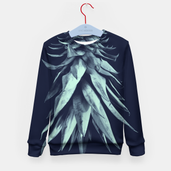Imagen en miniatura de Navy Blue Pineapple Upside Down #1 #tropical #fruit #decor #art Kindersweatshirt, Live Heroes