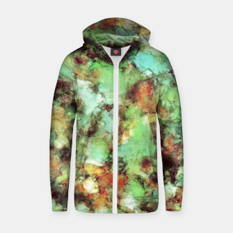Garden footsteps Zip up hoodie Bild der Miniatur