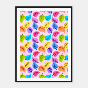 Colored Leaves Framed poster Bild der Miniatur