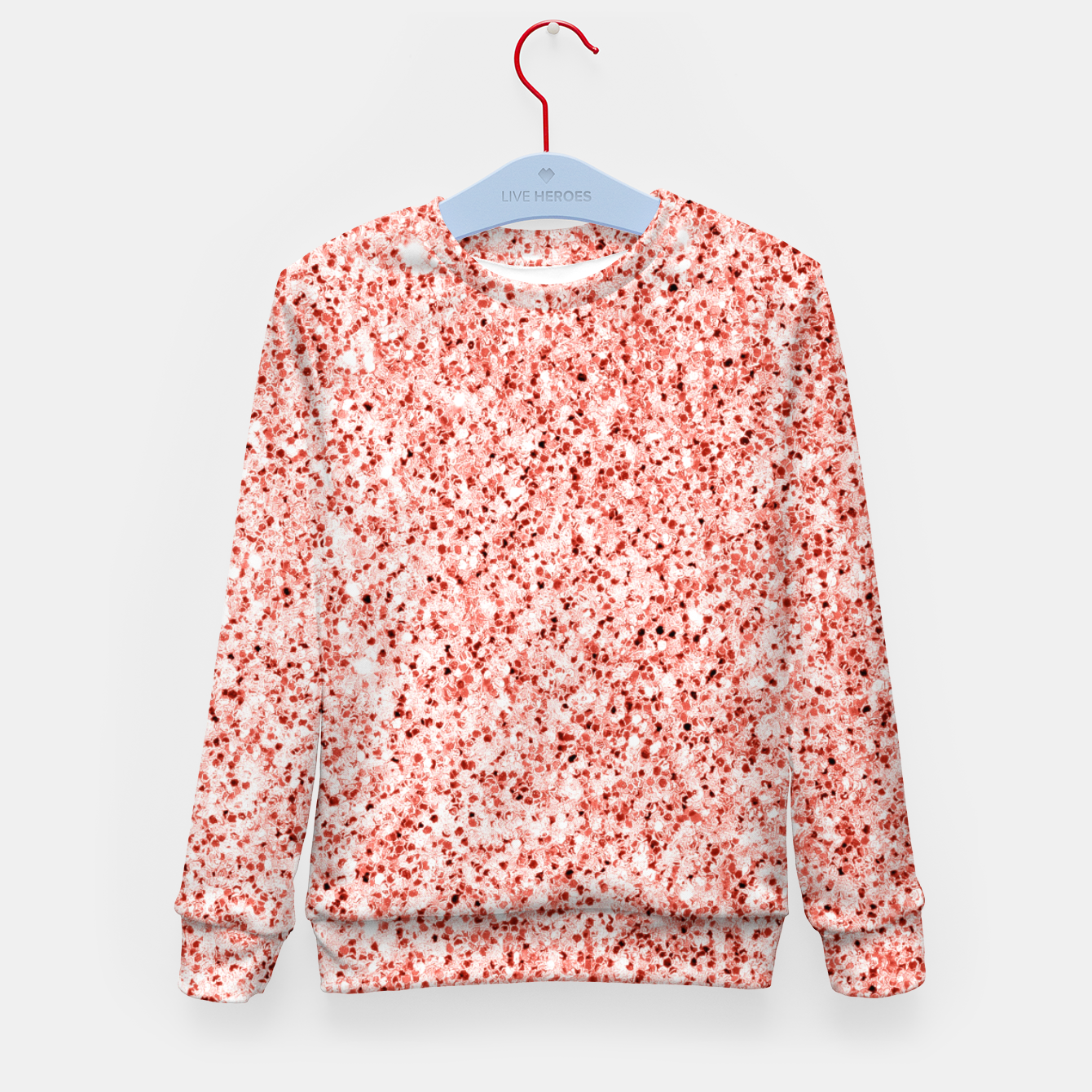 Image of Living coral light glitter Sparkles Kid's sweater - Live Heroes