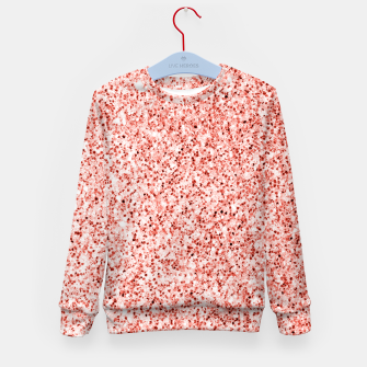 Thumbnail image of Living coral light glitter Sparkles Kid's sweater, Live Heroes