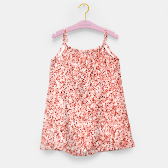 Thumbnail image of Living coral light glitter Sparkles Girl's dress, Live Heroes