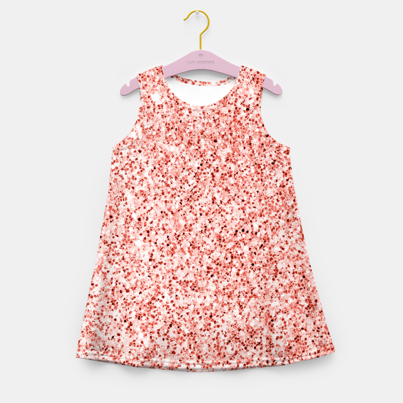 Image of Living coral light glitter Sparkles Girl's summer dress - Live Heroes