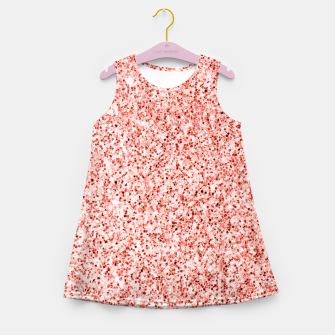 Thumbnail image of Living coral light glitter Sparkles Girl's summer dress, Live Heroes