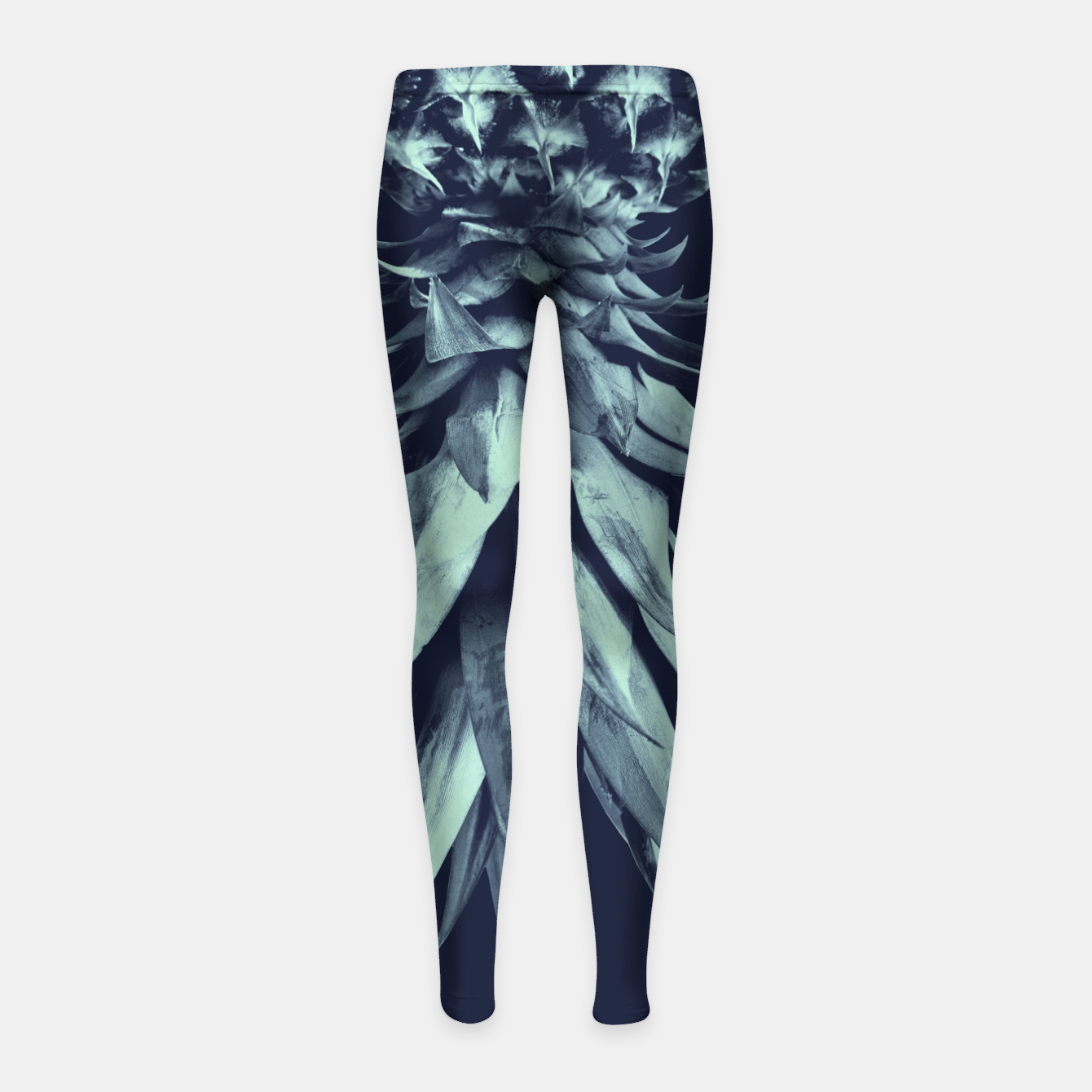 Image de Navy Blue Pineapple Upside Down #1 #tropical #fruit #decor #art Kinder-Leggins - Live Heroes