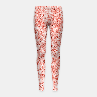 Thumbnail image of Living coral light glitter Sparkles Girl's leggings, Live Heroes