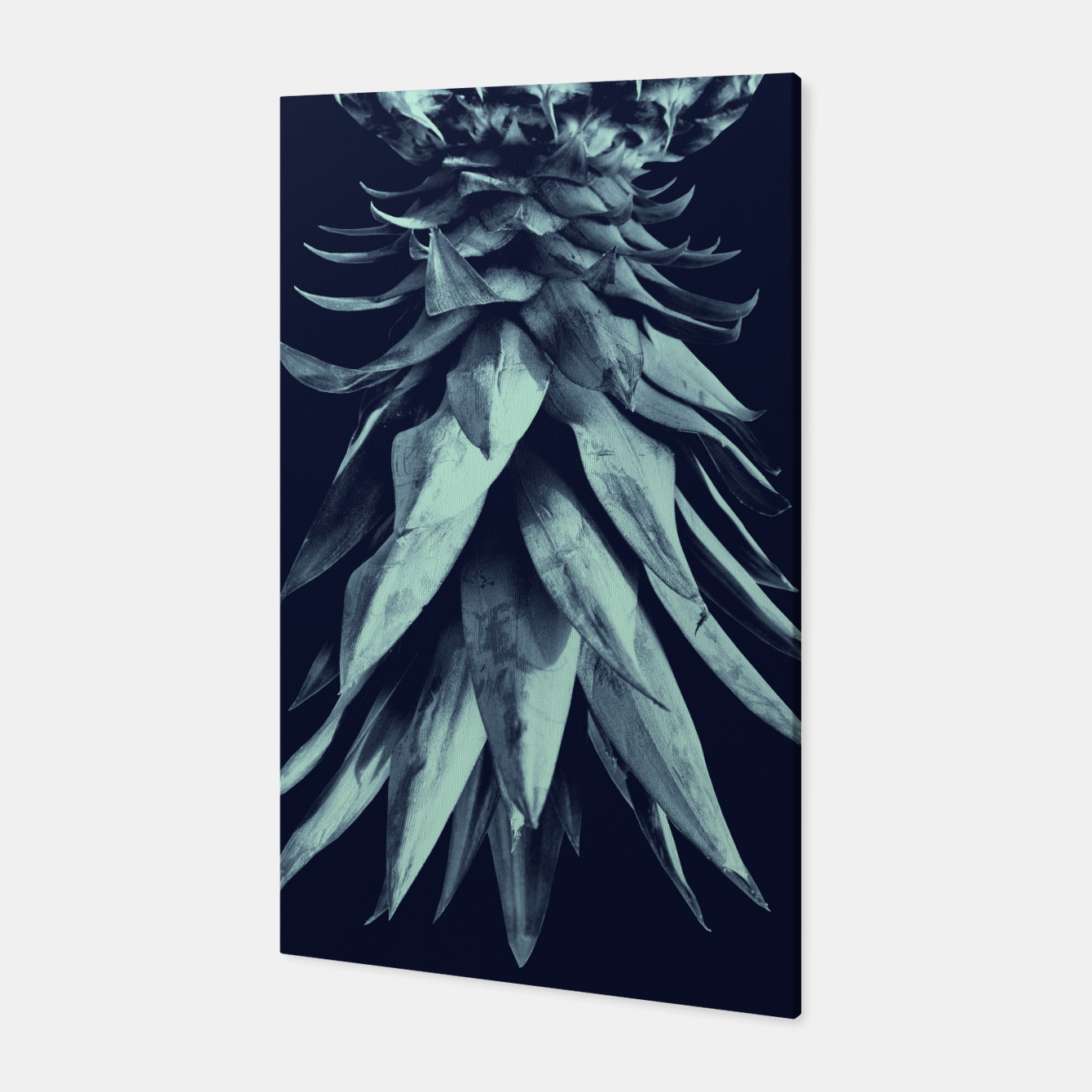 Image de Navy Blue Pineapple Upside Down #1 #tropical #fruit #decor #art Canvas - Live Heroes