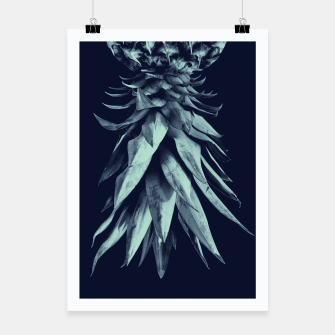Imagen en miniatura de Navy Blue Pineapple Upside Down #1 #tropical #fruit #decor #art Plakat, Live Heroes