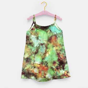 Garden footsteps Girl's dress Bild der Miniatur