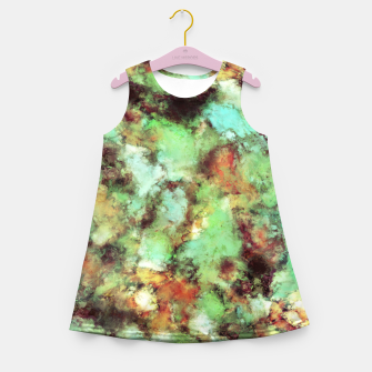 Garden footsteps Girl's summer dress Bild der Miniatur