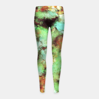 Garden footsteps Girl's leggings Bild der Miniatur