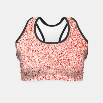 Thumbnail image of Living coral light glitter Sparkles Crop Top, Live Heroes