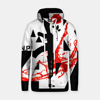 Thumbnail image of AK-47 Guns Rose Blood Men Black design Hoodie, Live Heroes