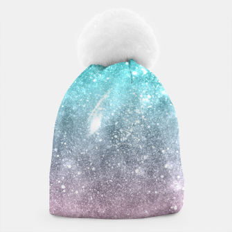 Thumbnail image of Sea pink viridian green ombre abstract galaxy Beanie, Live Heroes