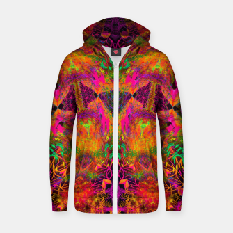 Thumbnail image of The Jester's Mindscape I (symmetry, trippy) Zip up hoodie, Live Heroes