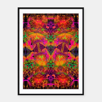 Thumbnail image of The Jester's Mindscape I (symmetry, trippy) Framed poster, Live Heroes