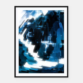 Thumbnail image of Electric Wave Framed poster, Live Heroes