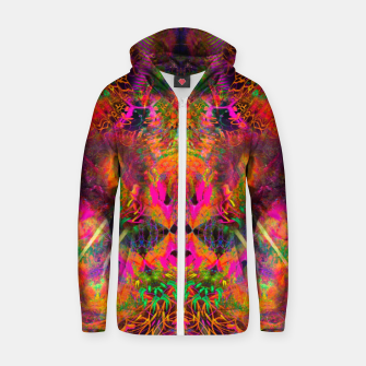 Miniaturka The Jester's Mindscape II (abstract, symmetry, visionary) Zip up hoodie, Live Heroes