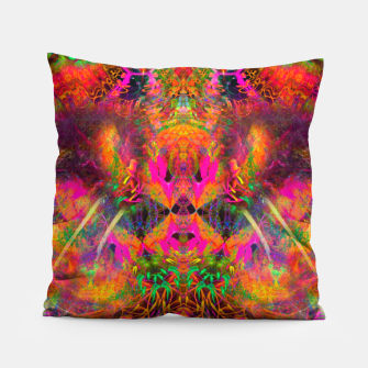Thumbnail image of The Jester's Mindscape II (abstract, symmetry, visionary) Pillow, Live Heroes