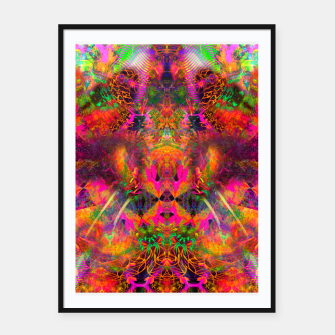 Miniaturka The Jester's Mindscape II (abstract, symmetry, visionary) Framed poster, Live Heroes