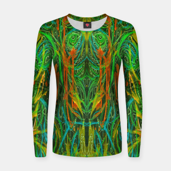 Thumbnail image of Dark Visions B 2 (abstract, psychedelic) Women sweater, Live Heroes