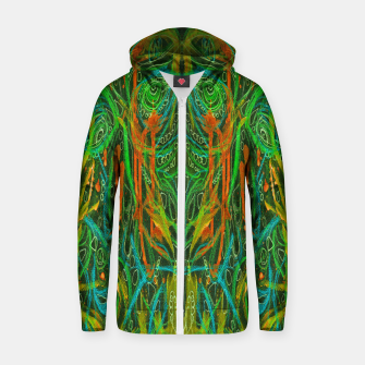 Thumbnail image of Dark Visions B 2 (abstract, psychedelic) Zip up hoodie, Live Heroes