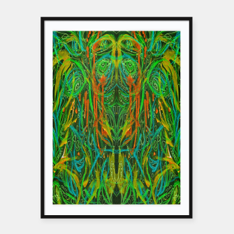 Thumbnail image of Dark Visions B 2 (abstract, psychedelic) Framed poster, Live Heroes