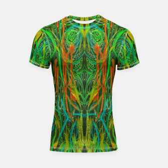Thumbnail image of Dark Visions B 2 (abstract, psychedelic) Shortsleeve rashguard, Live Heroes