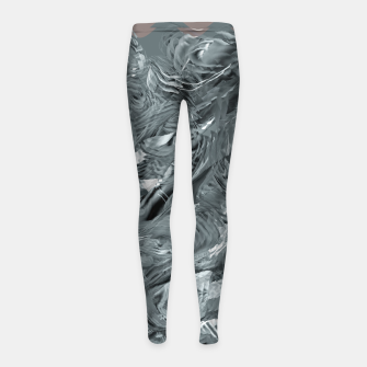 Thumbnail image of abstract shades grey  Legginsy dziewczęce, Live Heroes