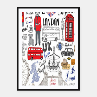 Thumbnail image of England Framed poster, Live Heroes