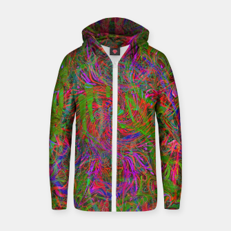 Thumbnail image of Dark Visions B 3 (abstract, psychedelic) Zip up hoodie, Live Heroes