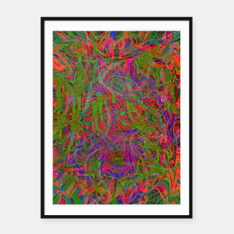 Thumbnail image of Dark Visions B 3 (abstract, psychedelic) Framed poster, Live Heroes