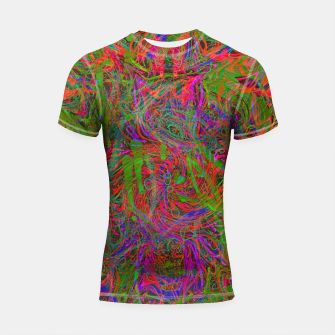 Thumbnail image of Dark Visions B 3 (abstract, psychedelic) Shortsleeve rashguard, Live Heroes
