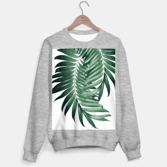 Imagen en miniatura de Palm Leaves Tropical Green Vibes #4 #tropical #decor #art Sweatshirt regulär, Live Heroes