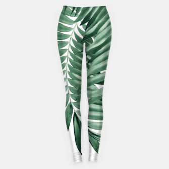 Imagen en miniatura de Palm Leaves Tropical Green Vibes #4 #tropical #decor #art Leggings, Live Heroes